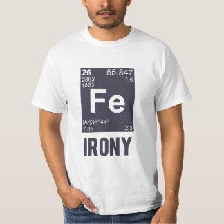 Ironía irónica del FE del elemento químico Remeras