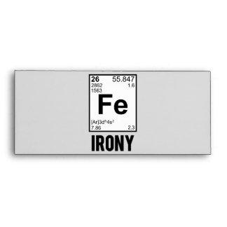 Ironía irónica del FE del elemento químico