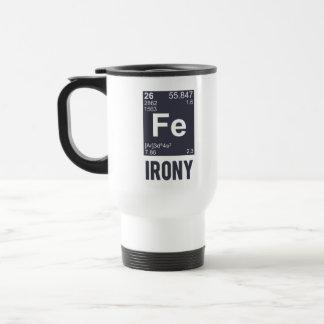 Ironía irónica del FE del elemento químico Taza De Viaje