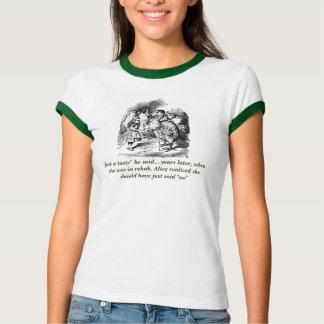 Ironic Alice (In Wonderland) Rehab Ringer T-Shirt
