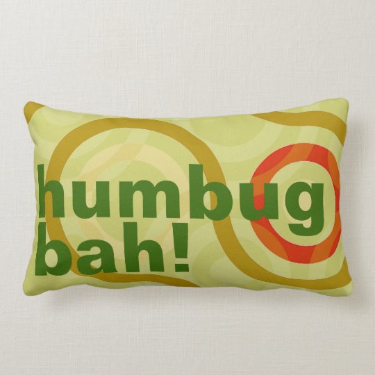 Ironic Bah Humbug Holiday Throw Pillow