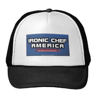 IRONIC CHEF AMERICA TRUCKER HAT