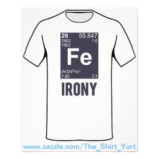 """Ironic Chemical Element FE Irony 4.5"""" X 5.6"""" Flyer"""