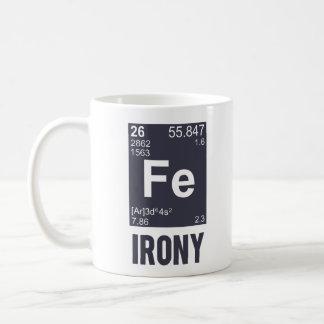 Ironic Chemical Element FE Irony Coffee Mugs