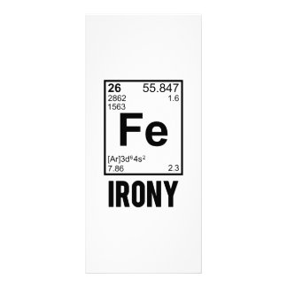 Ironic Chemical Element FE Irony Rack Card