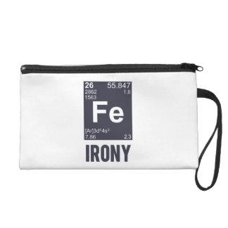 Ironic Chemical Element FE Irony Wristlet
