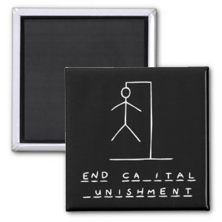 Ironic Hangman 2 Inch Square Magnet