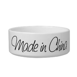 Ironic Made in China Bowl