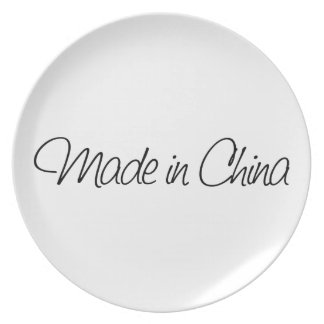 Ironic Made in China Party Plates