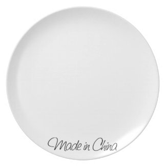 Ironic Made in China Party Plate