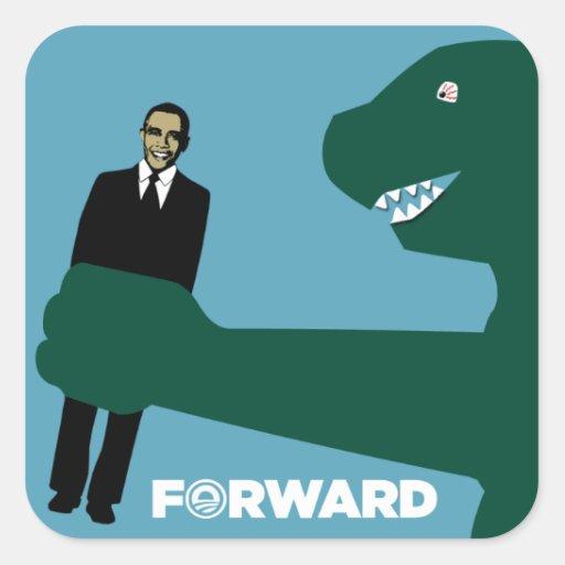Ironic Obama Forward - Japanese Monster stickers