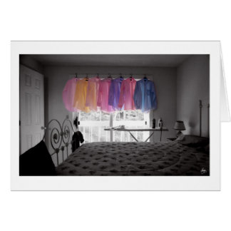 Ironing Adds Color to a Room Card