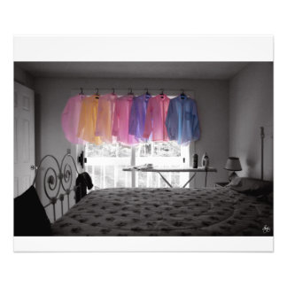 Ironing Adds Color to a Room Photo Print