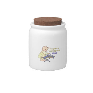 Ironing Board Blues Candy Jars