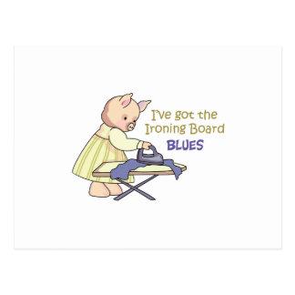 Ironing Board Blues Postcard