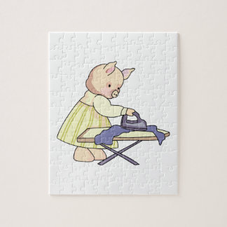 Ironing Pig Jigsaw Puzzles