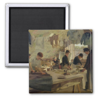Ironing Workshop in Trouville, 1888 2 Inch Square Magnet
