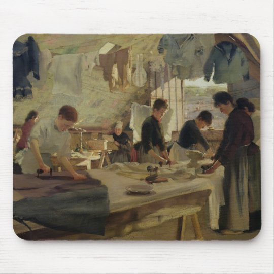 Ironing Workshop in Trouville, 1888 Mouse Pad