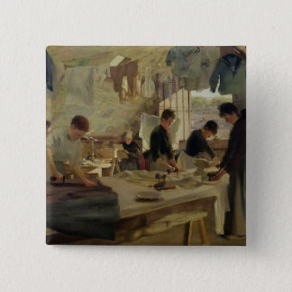 Ironing Workshop in Trouville, 1888 Pinback Button