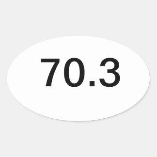 Ironman 70,3 pegatina ovalada
