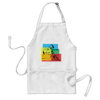 Ironman Abstract 4 Adult Apron