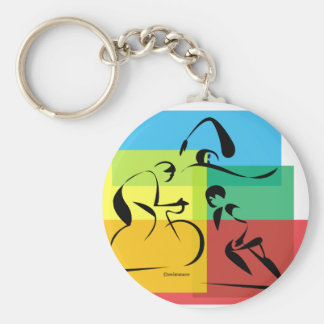 Ironman Abstract 4 Basic Round Button Keychain