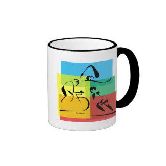 Ironman Abstract 4 Ringer Mug