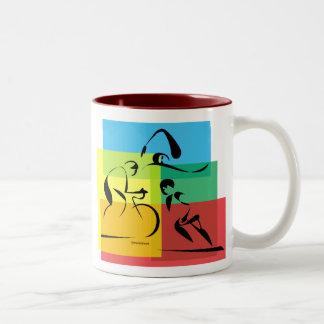 Ironman Abstract 4 Two-Tone Coffee Mug