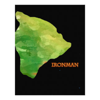 Ironman Big Island Logo Letterhead Template