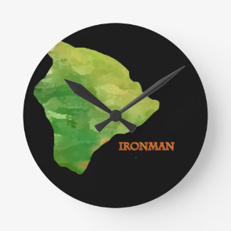 Ironman Big Island Logo Round Clock