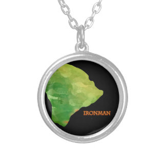 Ironman Big Island Logo Silver Plated Necklace