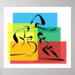 Ironman Plain4 abstracto Poster