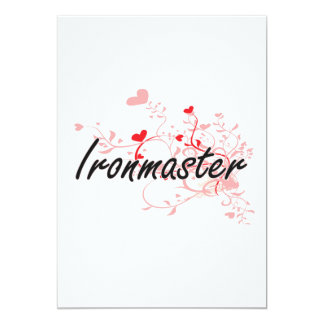 Ironmaster Artistic Job Design with Hearts 5x7 Paper Invitation Card