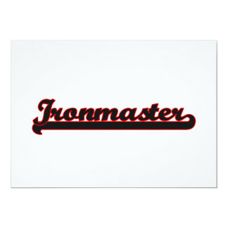 Ironmaster Classic Job Design 5x7 Paper Invitation Card
