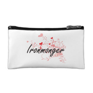 Ironmonger Artistic Job Design with Hearts Cosmetics Bags