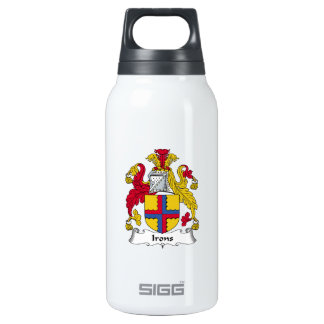 Irons Family Crest Insulated Water Bottle