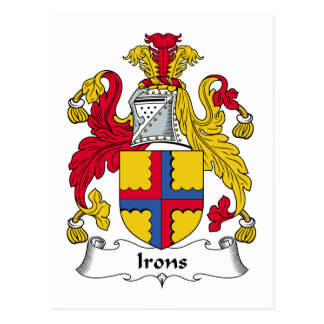 Irons Family Crest Postcard