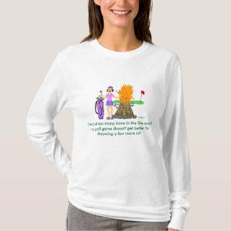 """""""Irons in the Fire"""" Golf Cartoon Shirt"""