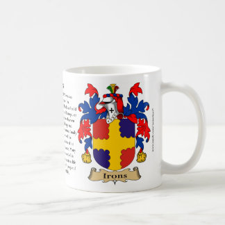 Irons, the Origin, the Meaning and the Crest Coffee Mug