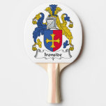 Ironside Family Crest Ping Pong Paddle