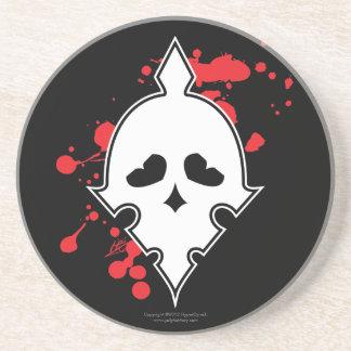 IronSkull Military Skull with Blood Splatters Coaster