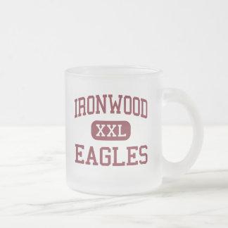 Ironwood - Eagles - High School - Glendale Arizona 10 Oz Frosted Glass Coffee Mug