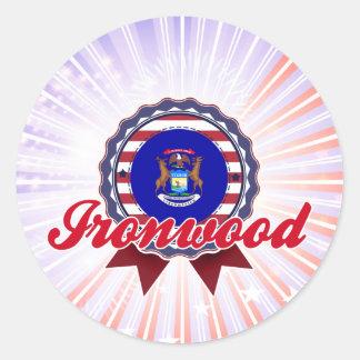 Ironwood, MI Pegatinas Redondas