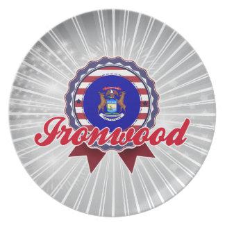 Ironwood, MI Plato Para Fiesta
