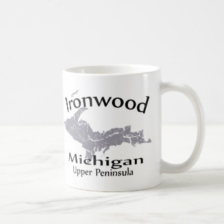 Ironwood Michigan Map Design Mug Mug