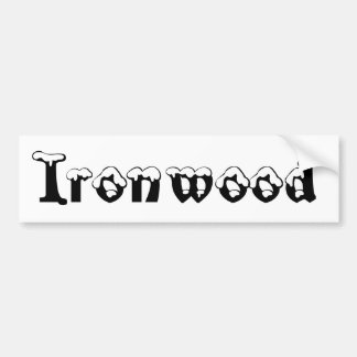 Ironwood Michigan Snow Bumper Sticker