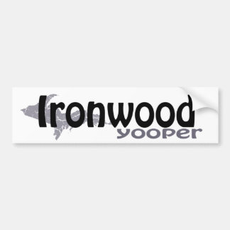Ironwood Michigan Yooper Bumper Sticker