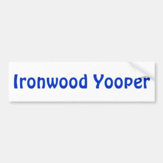 Ironwood Yooper o cuaesquiera pegatinas para el pa Pegatina De Parachoque