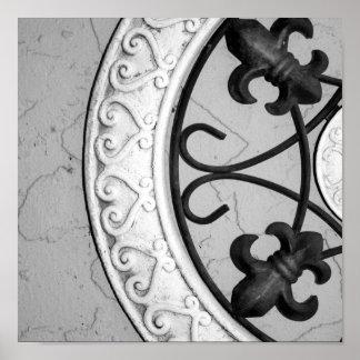 Ironwork Medallion print