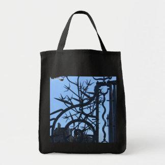 Ironwork on Blue Sky Bags